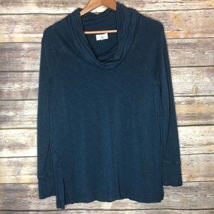 Lou & grey cowl neck cozy warm blue sweatshirt M